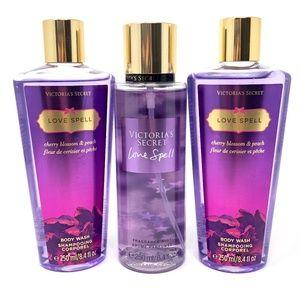 VS Love Spell Fragrance Mist & 2-Body Wash Set